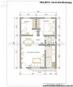 Casa 2 Quartos  –  49.81m²