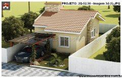 Casa 2 Quartos – 52.5m²