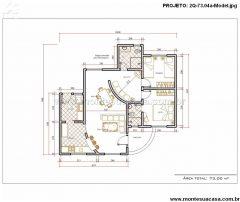 Casa 2 Quartos  –  73.05m²