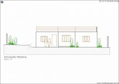 Casa 2 Quartos  –  73.7m²