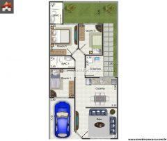 Casa 3 Quartos  –  66.6m²