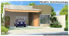 Casa 3 Quartos  –  84.88m²