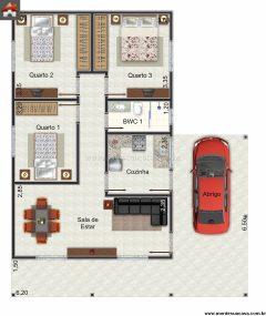Casa 3 Quartos  –  94.25m²