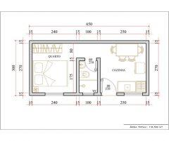 Casa 1 Quarto  –  19.5m²