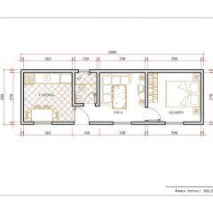 Casa 1 Quarto  –  30m²