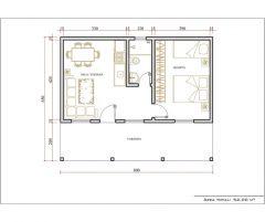 Casa 1 Quarto  –  52m²