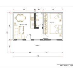 Casa 1 Quarto  –  52.01m²