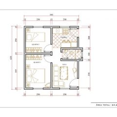 Casa 2 Quartos  –  34.86m²