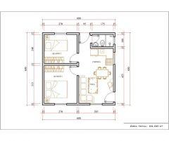 Casa 2 Quartos  –  36m²