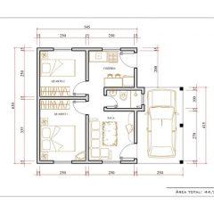 Casa 2 Quartos  –  44.71m²