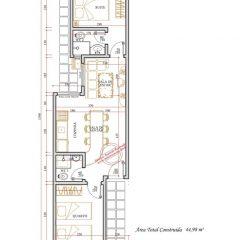 Casa 2 Quartos  –  44.98m²