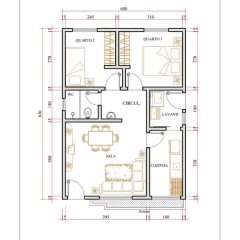 Casa 2 Quartos  –  49.8m²