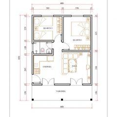 Casa 2 Quartos  –  51m²