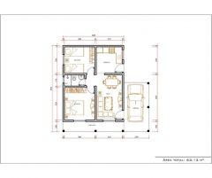 Casa 2 Quartos  –  63.13m²