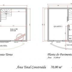 Sobrado 2 Quartos   –  74.63m²