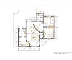 Casa 2 Quartos  –  73.04m²