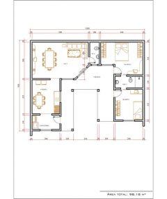 Casa 2 Quartos  –  98.18m²