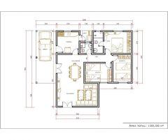 Casa 3 Quartos  –  100m²