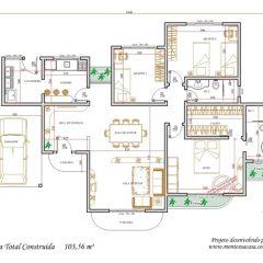 Casa 3 Quartos  –  103.56m²