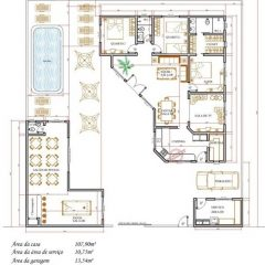 Casa 3 Quartos  –  107.9m²