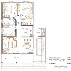 Casa 3 Quartos  –  111.03m²
