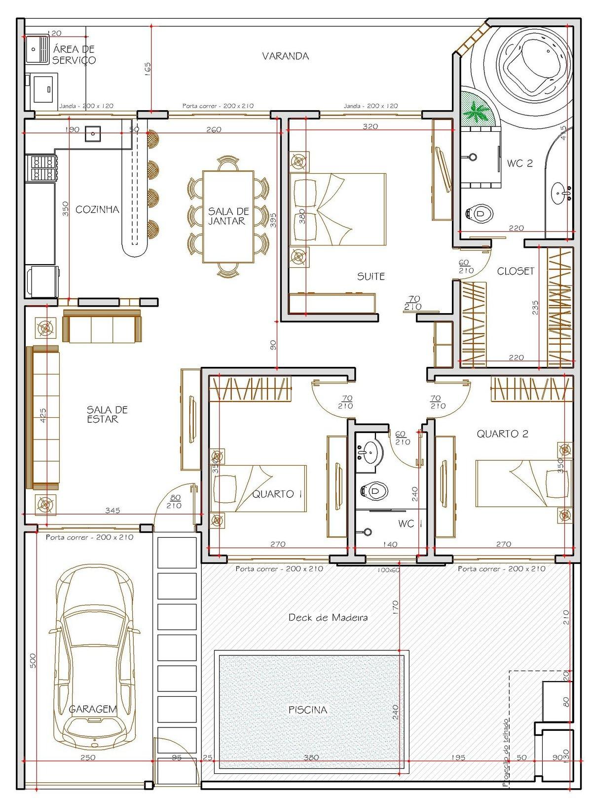 Casa 3 Quartos  -  114.56m²