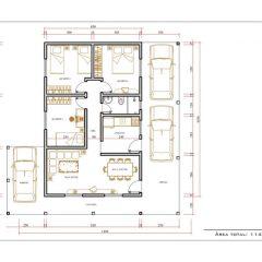 Casa 3 Quartos  –  114.88m²
