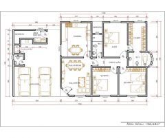 Casa 3 Quartos  –  156.62m²
