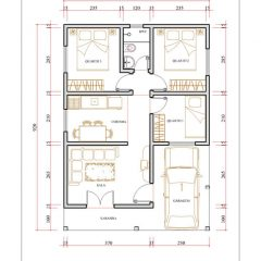 Casa 3 Quartos  –  59.8m²