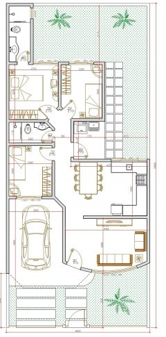 Casa 3 Quartos  –  84.2m²