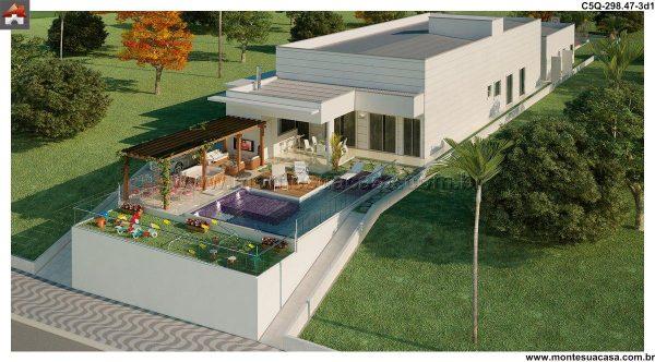 Casa 5 Quartos  -  298.47m²