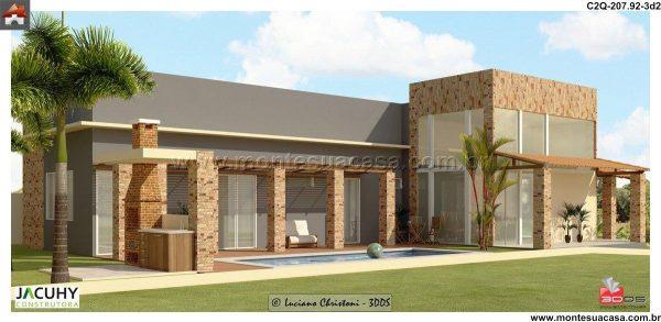 Casa 3 Quartos  -  207.93m²