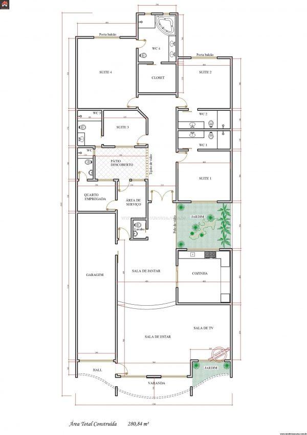 Casa 4 Quartos  -  280.84m²