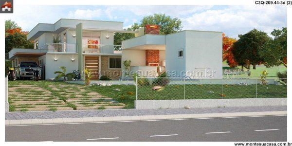 Casa 3 Quartos  -  209.44m²