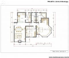 Casa 2 Quartos  –  84.45m²