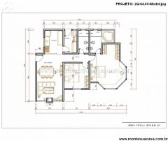 Casa 2 Quartos  –  84.65m²